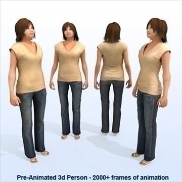 8 iepriekš animēti 3d cilvēku modeļi - gadījuma 3d modelis max 89276
