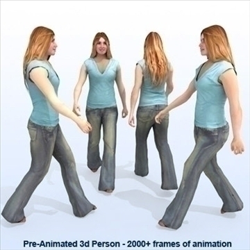 8 iepriekš animēti 3d cilvēku modeļi - gadījuma 3d modelis max 89277
