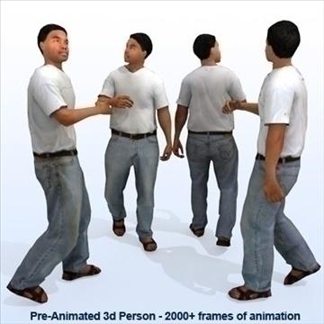 8 iepriekš animēti 3d cilvēku modeļi - gadījuma 3d modelis max 89278