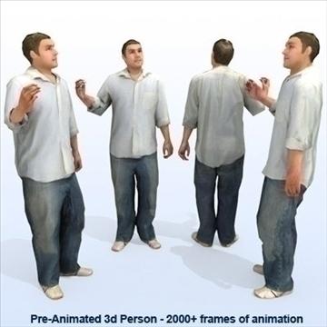 8 iepriekš animēti 3d cilvēku modeļi - gadījuma 3d modelis max 89279