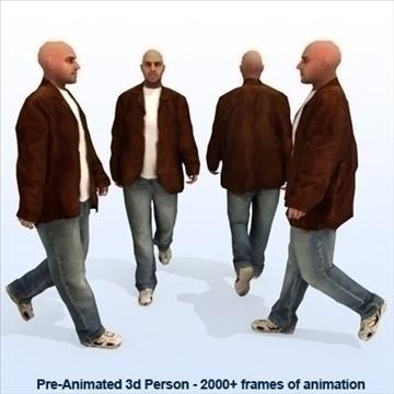 8 iepriekš animēti 3d cilvēku modeļi - gadījuma 3d modelis max 89280