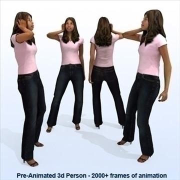 8 iepriekš animēti 3d cilvēku modeļi - gadījuma 3d modelis max 89281