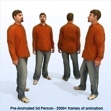 8 iepriekš animēti 3d cilvēku modeļi - gadījuma 3d modelis max 89282