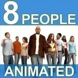 8 Pre-Animated 3d People Models - Casual ( 98.29KB jpg by got3d )