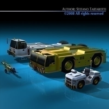 airport tow tractor collection 3d model 3ds dxf c4d obj 85762