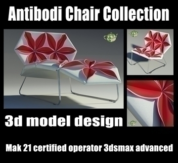 antibodi flower chair collection 3d model max other 91922