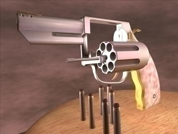 apache, drosmīgs .357, dubults, magnum, revolveris, 3d, modelis, 3ds, c4d, 89023