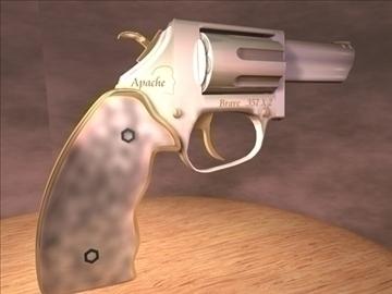 Apache hugrakkur .357 tvöfaldur-magnum revolver 3d líkan 3ds c4d 89024