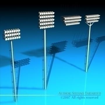 ndriçimi i dritave të arenës 3d model 3ds dxf c4d obj 85316