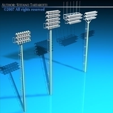 arena lights collection 3d model 3ds dxf c4d obj 85318