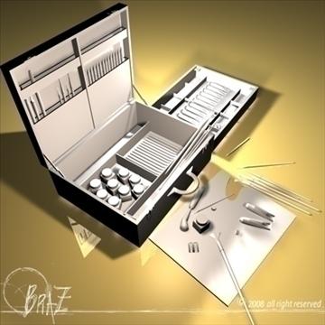 artist suitcase 3d model 3ds dxf c4d obj 109513