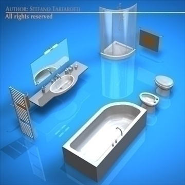 bathroom elements 3d model 3ds dxf c4d obj 93443