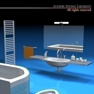 bathroom elements 3d model 3ds dxf c4d obj 93447