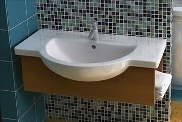 bathroom sink 3d model lwo 79353