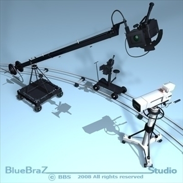 broadcast camera collection 3d model 3ds dxf c4d obj 89366