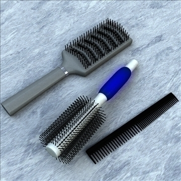 brush and comb pack 3d model 3ds max lwo obj 99987