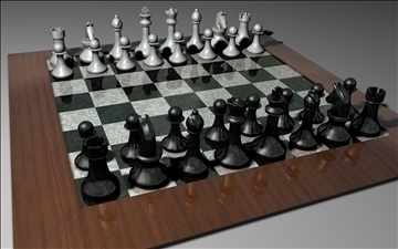 chess set 3d model 3ds c4d jpeg jpg 111565