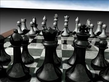 chess set 3d model 3ds c4d jpeg jpg 111568