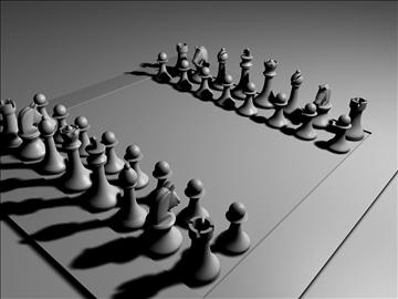 chess set 3d model 3ds c4d jpeg jpg 111570