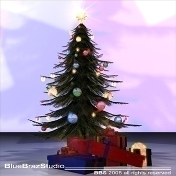 christmas tree 3 3d model 3ds dxf c4d obj 92202