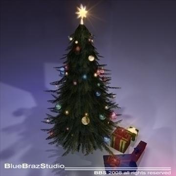 christmas tree 3 3d model 3ds dxf c4d obj 92203