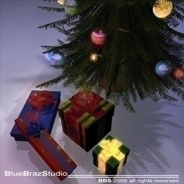 christmas tree 3 3d model 3ds dxf c4d obj 92204