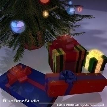 christmas tree 3 3d model 3ds dxf c4d obj 92205