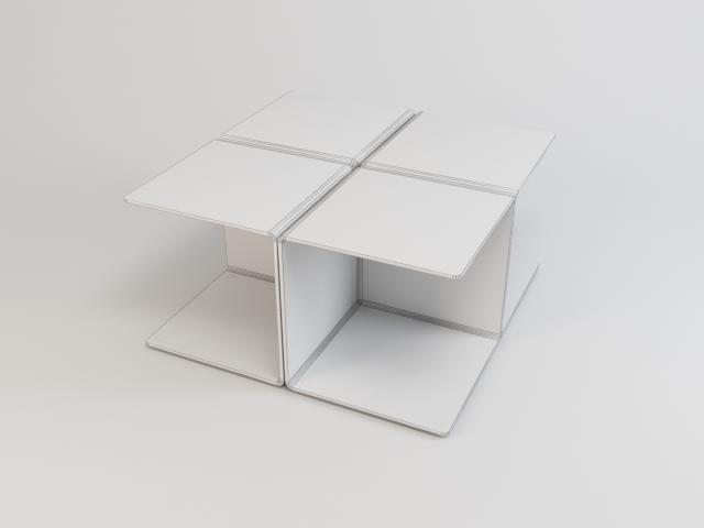 kolekcija staklenih stolova 3d model 3ds max fbx obj 118437