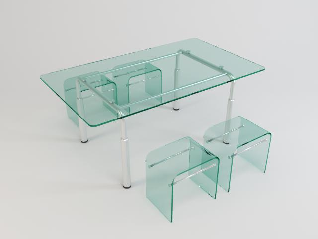 collection of glass tables 3d model 3ds max fbx obj 118441