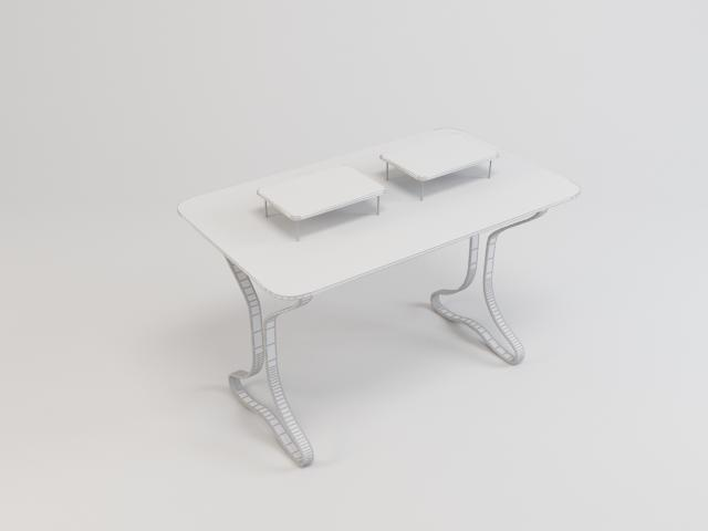 collection of glass tables 3d model 3ds max fbx obj 118447