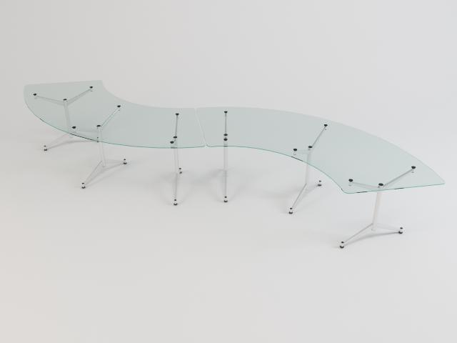 collection of glass tables 3d model 3ds max fbx obj 118448