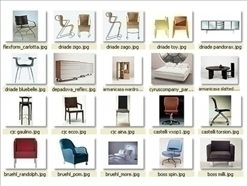 collection of modern furniture 3d model 3ds 85952