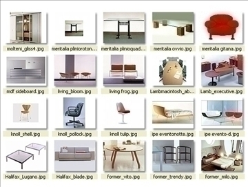 collection of modern furniture 3d model 3ds 85954