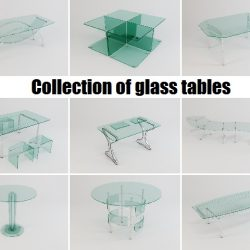 Collection of glass tables ( 62.81KB jpg by Alekrazum )