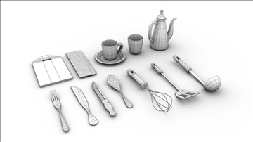 cookware and tableware 3d model 3ds max fbx ma mb obj 110079