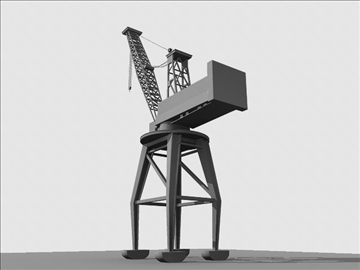crane port derrick 3d model ma mb obj 82765