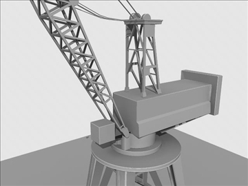 crane port derrick 3d model ma mb obj 82766