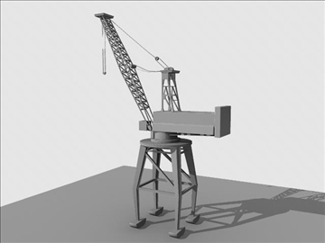 crane port derrick 3d model ma mb obj 82767