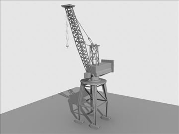 crane port derrick 3d model ma mb obj 82768