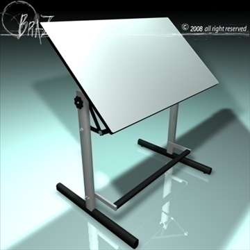 drawing table 3d model 3ds dxf c4d obj 109533