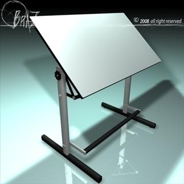 zīmēšanas galds 3d modelis 3ds dxf c4d obj 109533