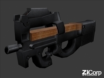 free modern weapons pk2 3d model 3ds 104585