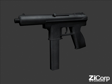 free modern weapons pk2 3d model 3ds 104586