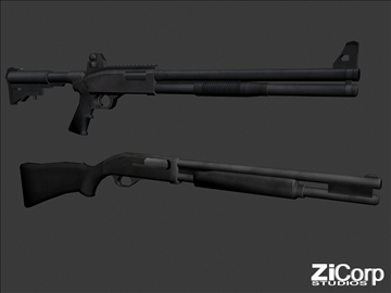 free modern weapons pk2 3d model 3ds 104587