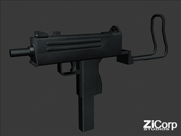 free modern weapons pk2 3d model 3ds 104588