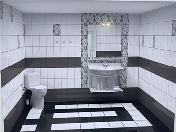 full bathroom project 3 variants 3d model other 112286