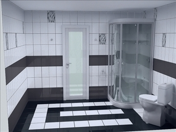 full bathroom project 3 variants 3d model other 112287
