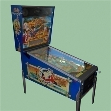 gilligans island pinballl machine 3d model max 95931