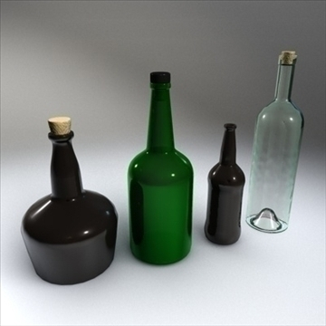 glass bottle collection.zip 3d model 3ds dxf fbx c4d x obj 87968
