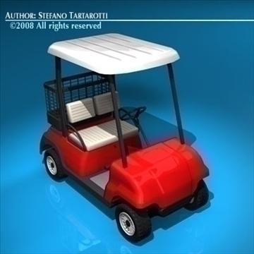 golf cart 2 seat 3d model 3ds dxf c4d obj 88447